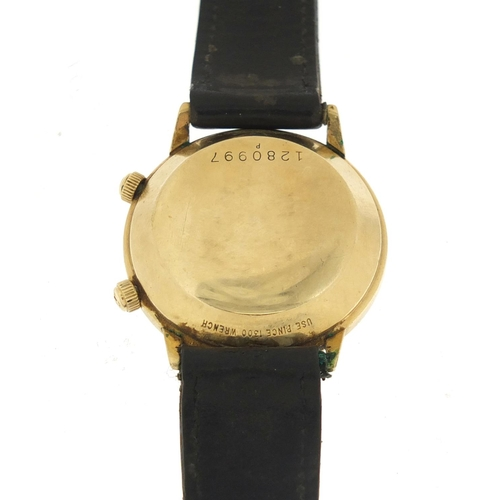 2368 - Jaeger LeCoultre, rare gentlemen's Memovox automatic alarm wristwatch, the case numbered 1280997, 36...