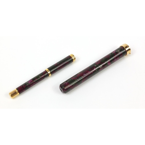876 - Waterman's Lady Agathe fountain pen with 18k gold nib, accessories and box...