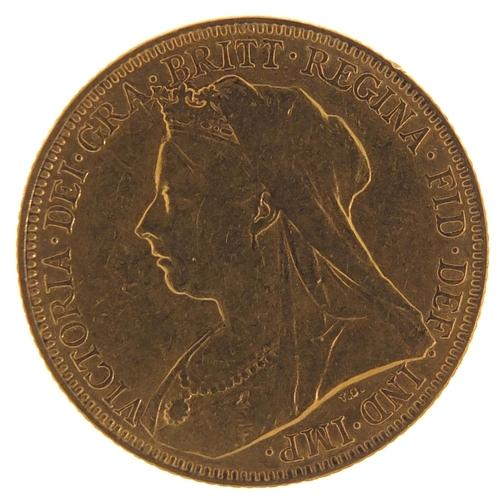 13 - Queen Victoria 1901 gold sovereign, Melbourne Mint - this lot is sold without buyer's premium, the h...