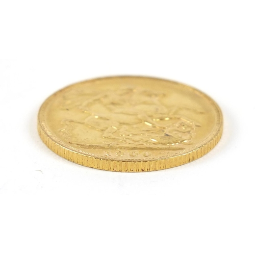 19 - Queen Victoria 1900 gold sovereign - this lot is sold without buyer's premium, the hammer price is t...