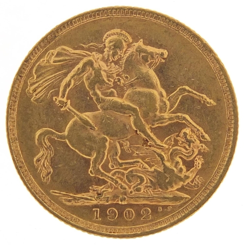 Edward VII 1902 gold sovereign, Melbourne mint - this lot is sold without buyer's premium, the hammer price is the price you pay