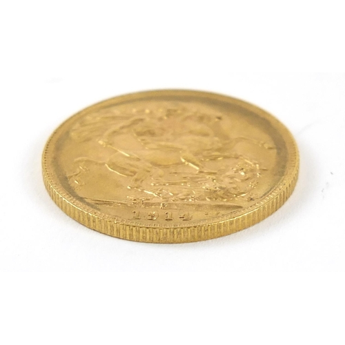 29 - George V 1914 gold sovereign, Perth mint - this lot is sold without buyer's premium, the hammer pric...
