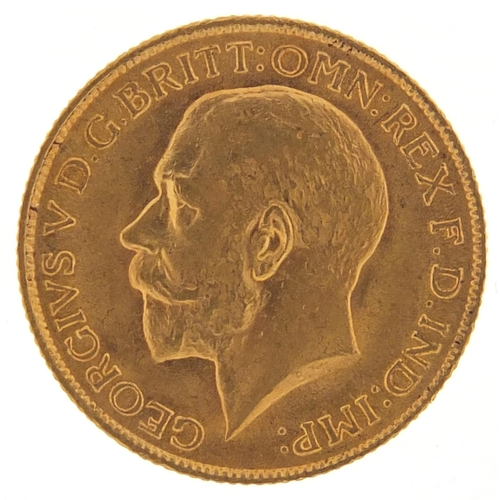 34 - George V 1912 gold sovereign - this lot is sold without buyer's premium, the hammer price is the pri...