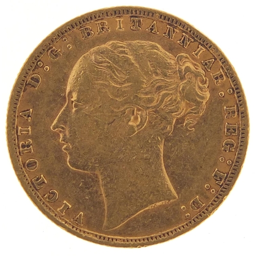 49 - Victoria Young Head 1876 gold sovereign - this lot is sold without buyer's premium, the hammer price...