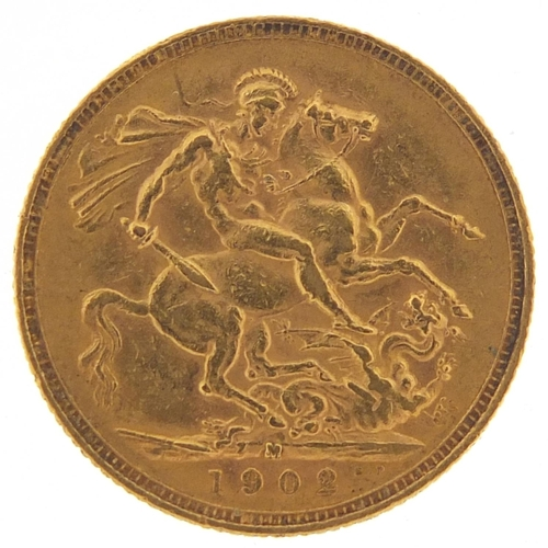 51 - Edward VII 1902 gold sovereign, Melbourne mint - this lot is sold without buyer's premium, the hamme...