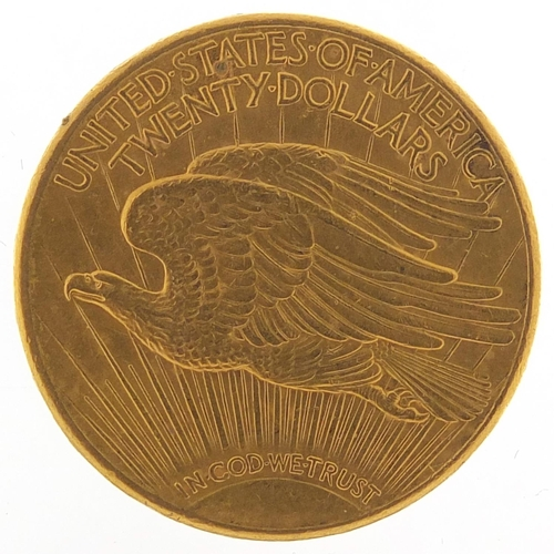 30 - United States of America 1910 gold twenty dollars, 33.6g - this lot is sold without buyer's premium,...