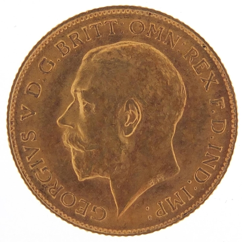 9 - George V 1914 gold half sovereign - this lot is sold without buyer's premium, the hammer price is th...