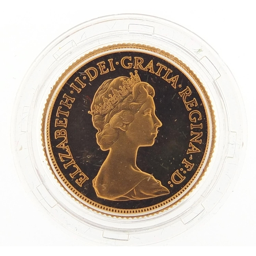 11 - Elizabeth II 1980 gold proof sovereign - this lot is sold without buyer's premium, the hammer price ...