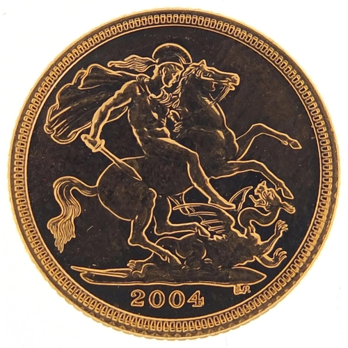 31 - Elizabeth II 2004 gold half sovereign - this lot is sold without buyer's premium, the hammer price i...