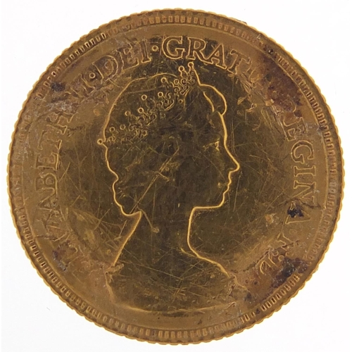 22 - Elizabeth II 1982 gold half sovereign - this lot is sold without buyer's premium, the hammer price i...