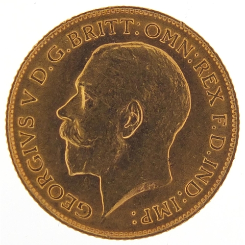 35 - George V 1913 gold half sovereign - this lot is sold without buyer's premium, the hammer price is th...