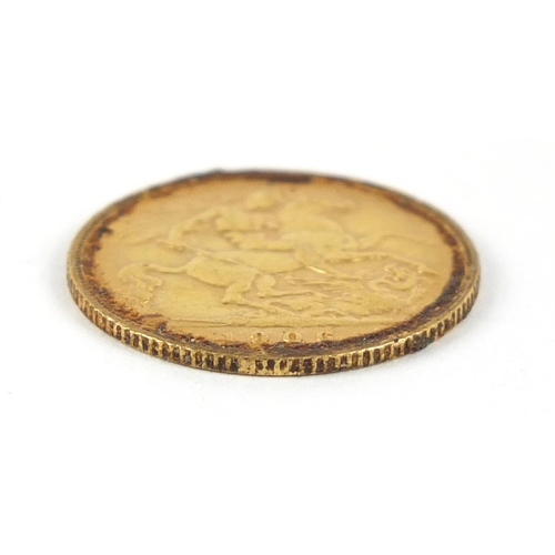 58 - Edward VII 1906 gold half sovereign - this lot is sold without buyer's premium, the hammer price is ...