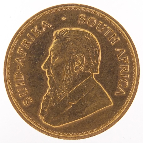 15 - South African 1974 gold krugerrand - this lot is sold without buyer's premium, the hammer price is t...