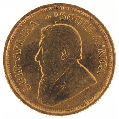 45 - South African 1981 gold 1/10th krugerrand - this lot is sold without buyer's premium, the hammer pri...