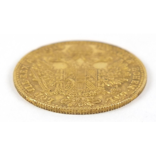 52 - Austrian 1915 gold one ducat - this lot is sold without buyer's premium, the hammer price is the pri...