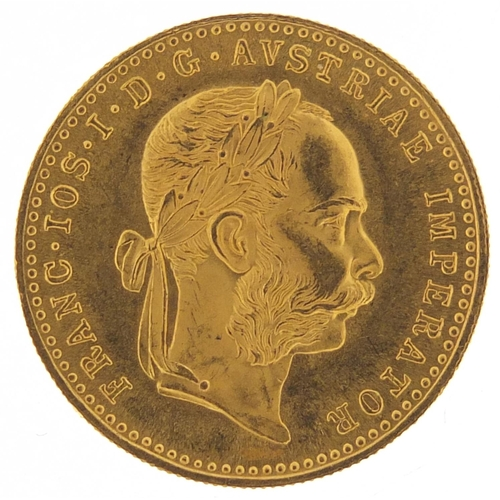 37 - Austrian 1915 gold one ducat, 3.4g - this lot is sold without buyer's premium, the hammer price is t...