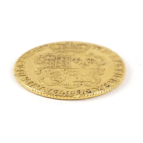 8 - George III 1777 gold guinea, 8.3g - this lot is sold without buyer's premium, the hammer price is th...