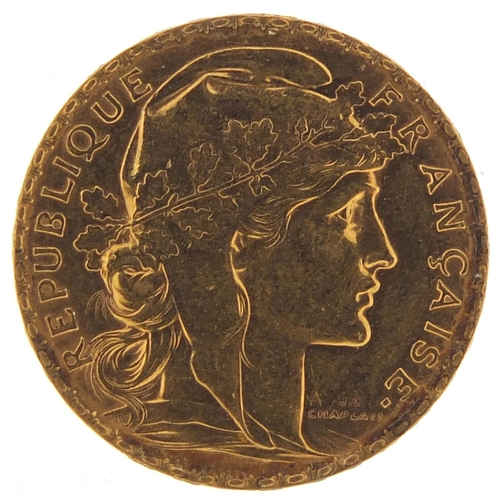 41 - French 1911 gold twenty francs, 6.4g - this lot is sold without buyer's premium, the hammer price is...