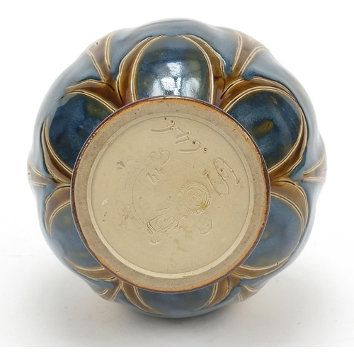 58 - Eliza Simmance for Royal Doulton, Art Nouveau stoneware vase hand painted and incised with stylised ...