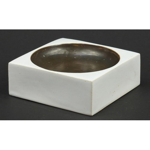 9 - Troika St Ives Pottery square section dish, 12cm wide...