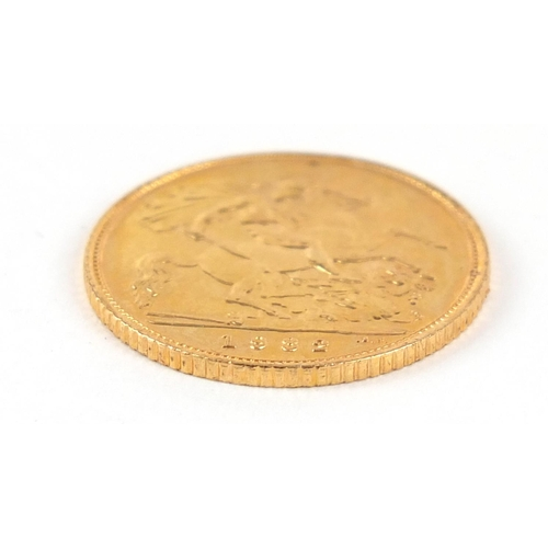 322 - Elizabeth II 1982 gold half sovereign - this lot is sold without buyer's premium, the hammer price i...