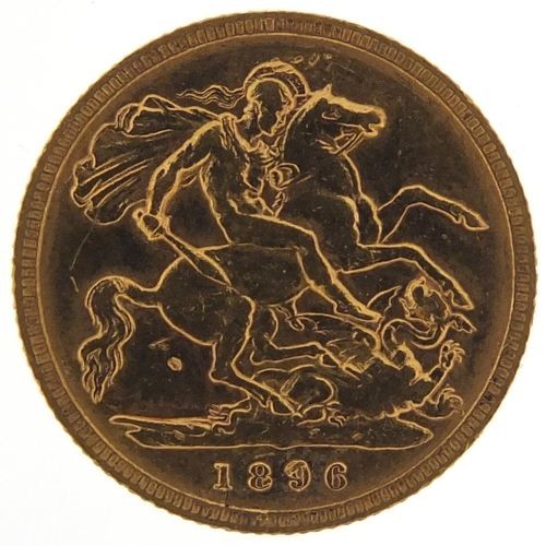 306 - Queen Victoria 1896 gold half sovereign - this lot is sold without buyer's premium, the hammer price...