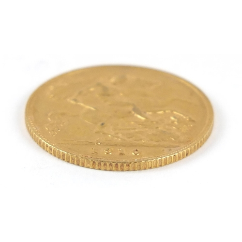 324 - Edward VII 1910 gold half sovereign - this lot is sold without buyer's premium, the hammer price is ...
