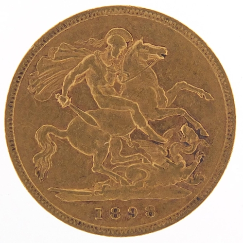 312 - Queen Victoria 1898 gold half sovereign - this lot is sold without buyer's premium, the hammer price...