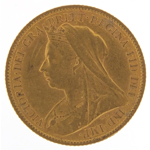 315 - Queen Victoria 1900 gold half sovereign - this lot is sold without buyer's premium, the hammer price...