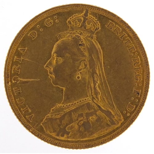 307 - Queen Victoria Jubilee Head 1887 gold sovereign - this lot is sold without buyer's premium, the hamm...