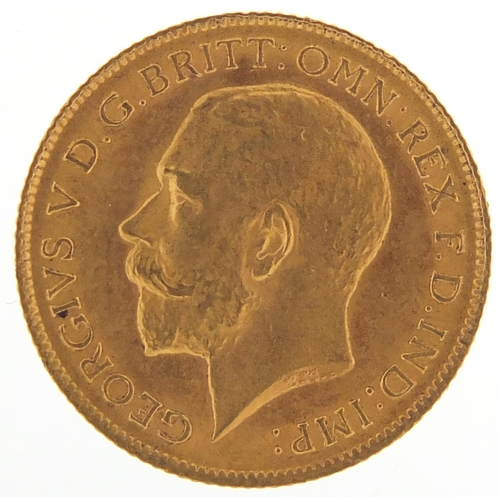 352 - George V 1913 gold half sovereign - this lot is sold without buyer's premium, the hammer price is th...