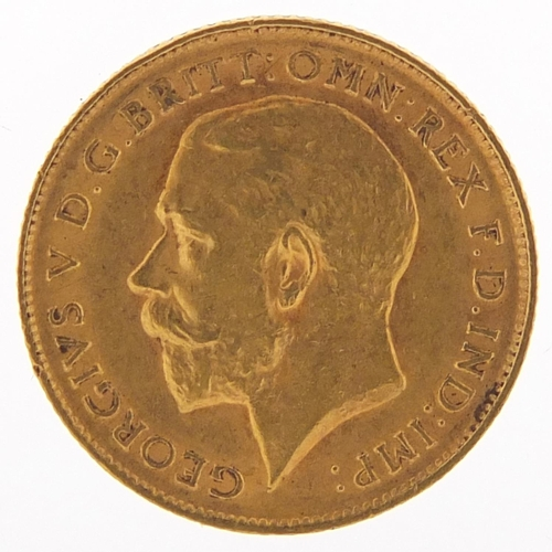 328 - George V 1911 gold half sovereign - this lot is sold without buyer's premium, the hammer price is th...