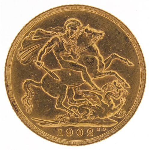 303 - Edward VII 1902 gold sovereign - this lot is sold without buyer's premium, the hammer price is the p...