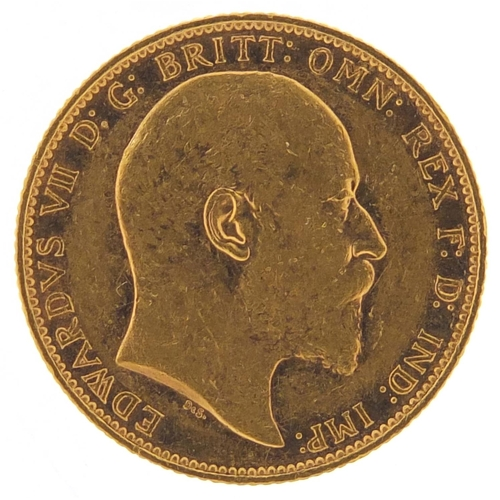 313 - Edward VII 1902 gold sovereign, Melbourne mint - this lot is sold without buyer's premium, the hamme...
