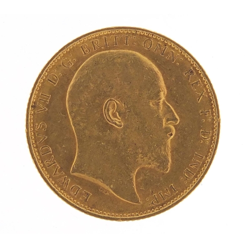 342 - Edward VII 1905 gold sovereign, Melbourne mint - this lot is sold without buyer's premium, the hamme...