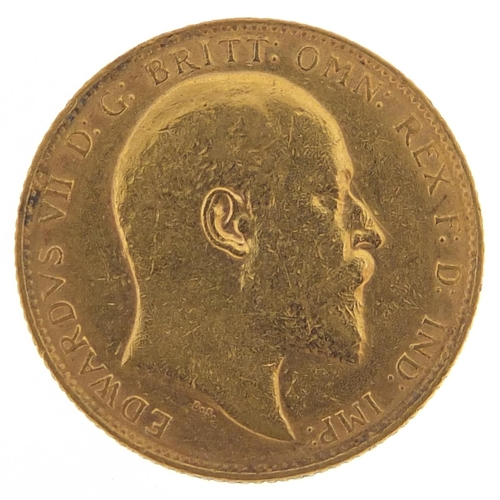 325 - Edward VII 1909 gold sovereign - this lot is sold without buyer's premium, the hammer price is the p...