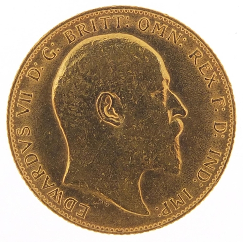 329 - Edward VII 1909 gold sovereign - this lot is sold without buyer's premium, the hammer price is the p...
