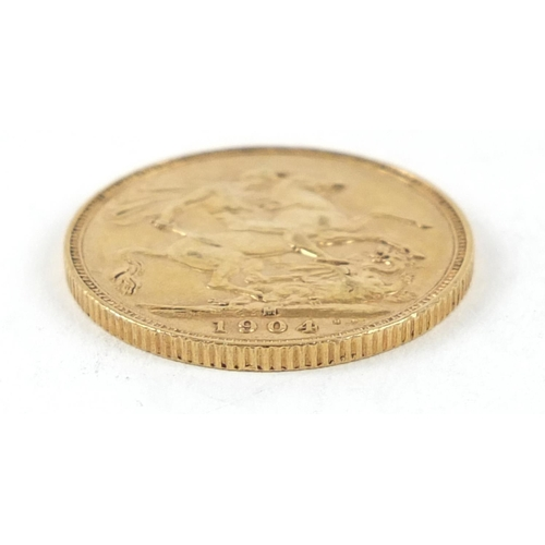 346 - Edward VII 1904 gold sovereign, Melbourne mint - this lot is sold without buyer's premium, the hamme...