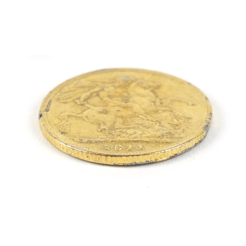 366 - George V 1911 gold sovereign - this lot is sold without buyer's premium, the hammer price is the pri...