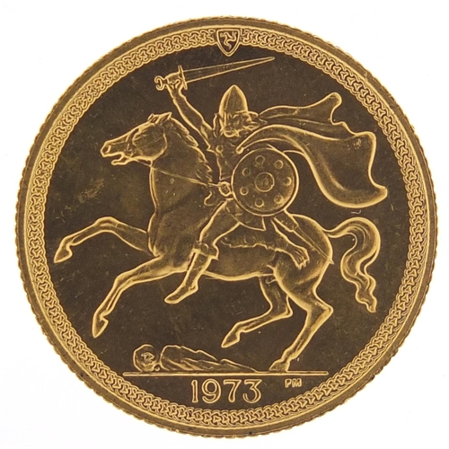 319 - Isle of Man Elizabeth II 1973 gold sovereign - this lot is sold without buyer's premium, the hammer ...