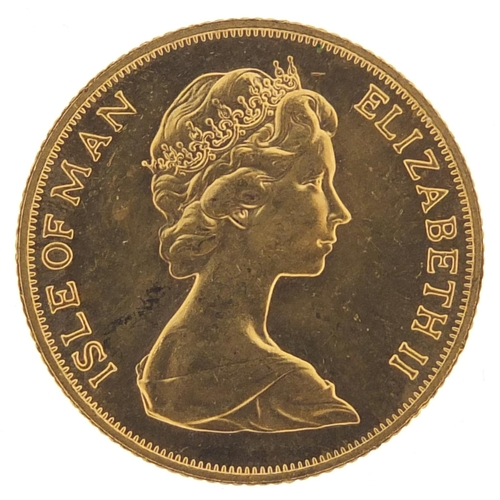 327 - Isle of Man Elizabeth II 1973 gold sovereign - this lot is sold without buyer's premium, the hammer ...