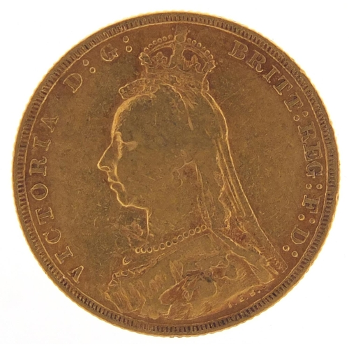 304 - Queen Victoria Jubilee Head 1889 gold sovereign - this lot is sold without buyer's premium, the hamm...