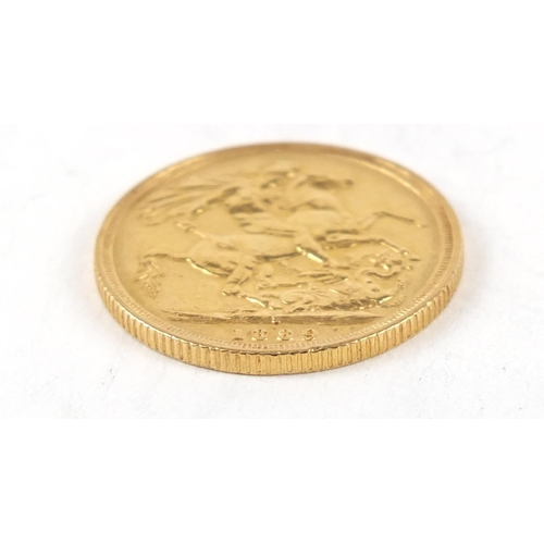 311 - Queen Victoria Jubilee Head 1889 gold sovereign, Sydney mint - this lot is sold without buyer's prem...