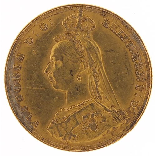 301 - Queen Victoria Jubilee Head 1887 gold sovereign - this lot is sold without buyer's premium, the hamm...
