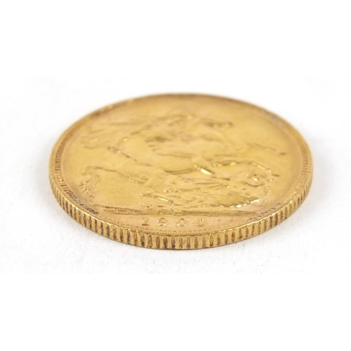 317 - Queen Victoria 1900 gold sovereign, Melbourne mint - this lot is sold without buyer's premium, the h...
