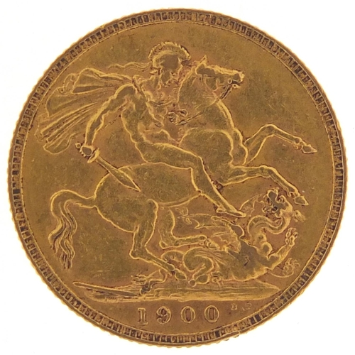 326 - Queen Victoria 1900 gold sovereign - this lot is sold without buyer's premium, the hammer price is t...