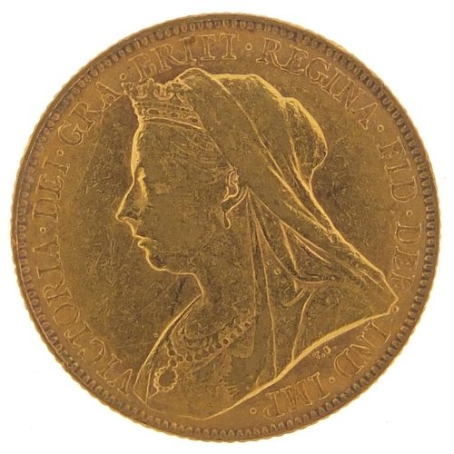334 - Queen Victoria 1900 gold sovereign - this lot is sold without buyer's premium, the hammer price is t...