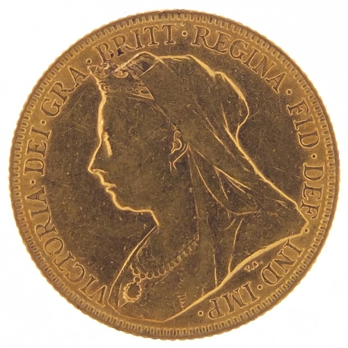 351 - Queen Victoria 1900 gold sovereign - this lot is sold without buyer's premium, the hammer price is t...