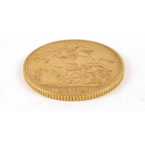 354 - Queen Victoria 1900 gold sovereign - this lot is sold without buyer's premium, the hammer price is t...