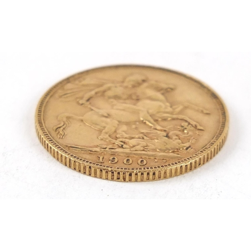 356 - Queen Victoria 1900 gold sovereign - this lot is sold without buyer's premium, the hammer price is t...